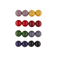 Multi Coloured Crack Ball 8 Pack Stud Earrings - link has visual effect only
