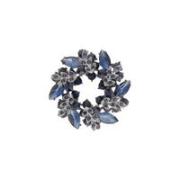 Navy Crystal Wreath Brooch - link has visual effect only