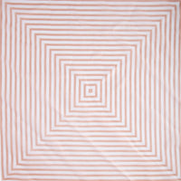 Blush White Square Stripe Scarf