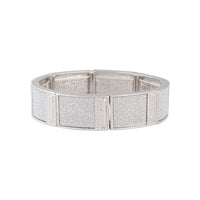 Silver Glitter Square Bracelet - link has visual effect only