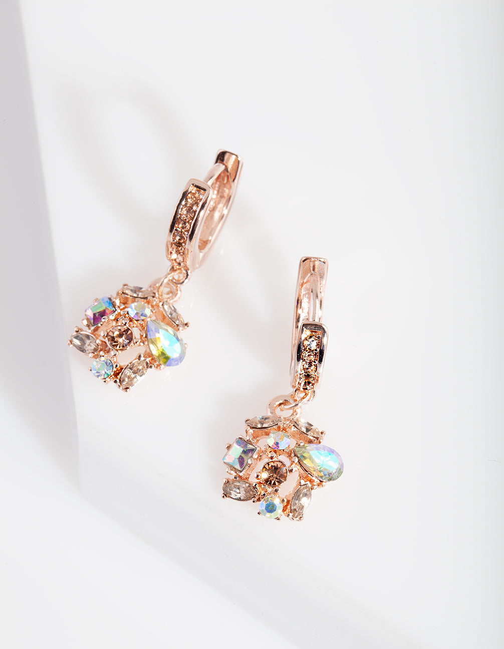 Rose Gold Diamante Cluster Earring