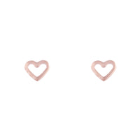 Rose Gold Open Heart Stud Earring