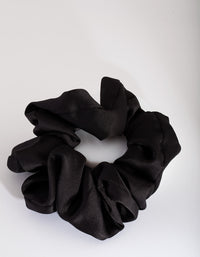 Black Satin Oversized Scrunchie - link has visual effect only