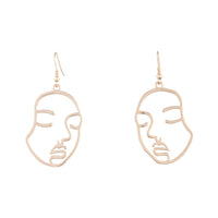 Gold Small Face Earring - link has visual effect only