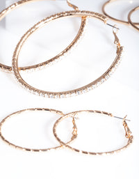 Gold Statement Diamante Hoop Pack - link has visual effect only