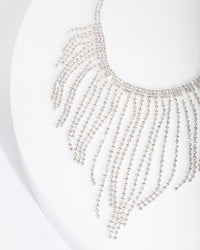 Silver Diamante Fringe Choker - link has visual effect only