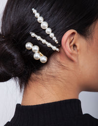 Gold Multi Pearl Pin 4 Pack - link has visual effect only