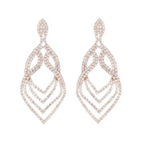 Rose Gold Layers Tiered Drop Earring - link has visual effect only