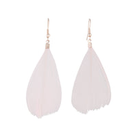 Rose Gold Pink Feather Earring - link has visual effect only