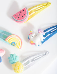 Kids Multi Rainbow Novelty Clip Pack - link has visual effect only