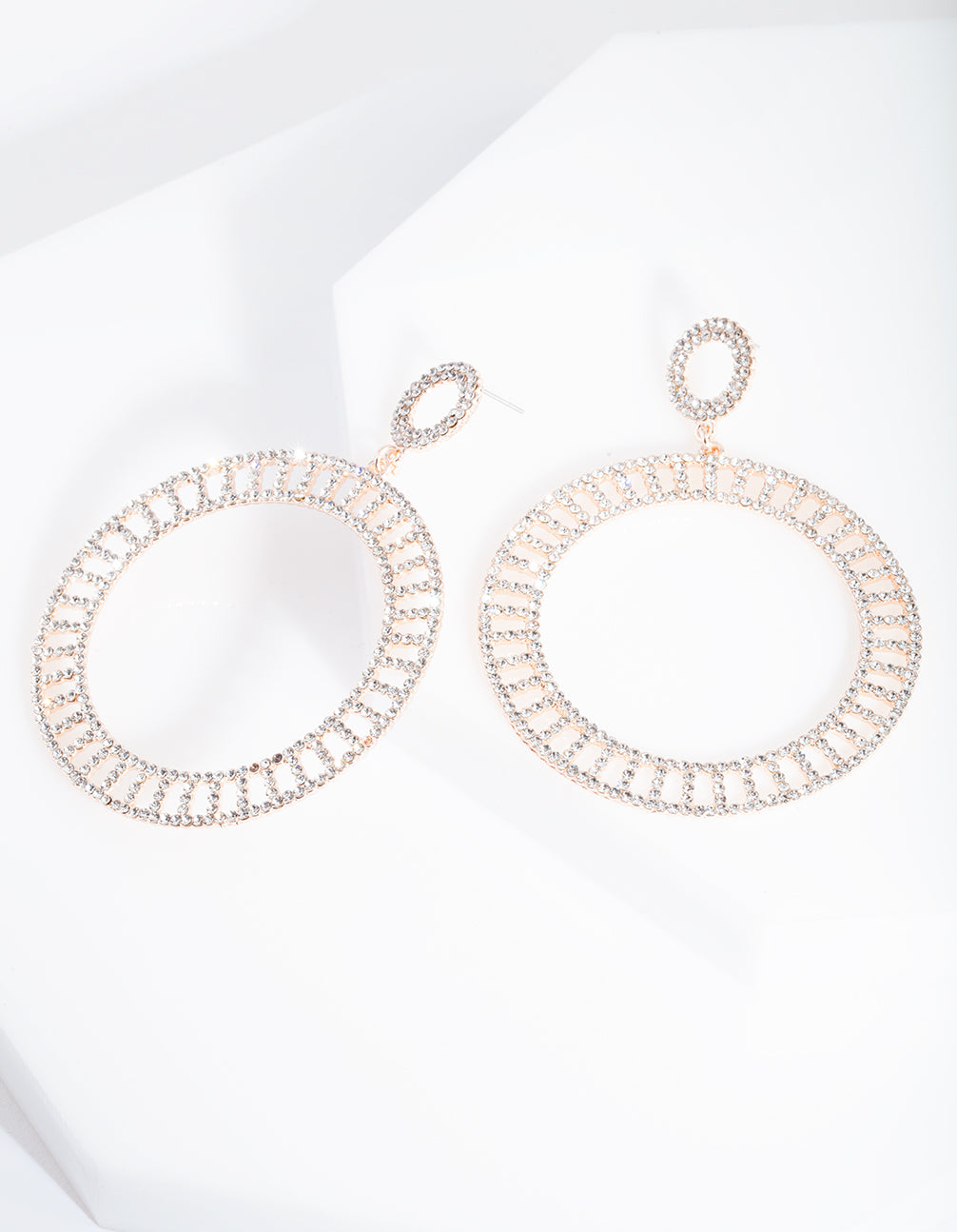 Rose Gold Cut-Out Disc Earring
