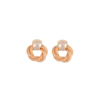 Rose Gold Twisted Chain Circle Earring - link has visual effect only