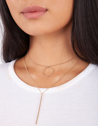 Gold Circle Double Choker - link has visual effect only