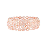Rose Gold Diamante Filigree Stretch Bangle - link has visual effect only