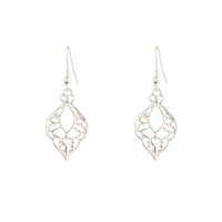 Silver Bohemian Cutout Drop Earrings - link has visual effect only