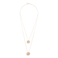 Gold Double Row Coin Charm Necklace - link has visual effect only