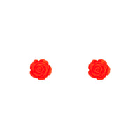 Acrylic Pop Orange Rose Stud - link has visual effect only