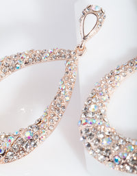 Rose Gold Statement Diamante Earring - link has visual effect only