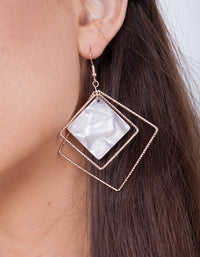 Rose Gold Irredescent Earring