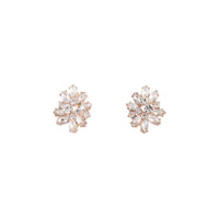 Rose Gold Diamante Cluster Earring - link has visual effect only
