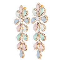 Pastel Teardrop Flower Multi-Stone Earring - link has visual effect only