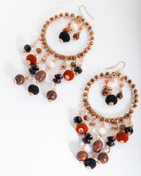Neutral Bead Hoop Earring - link has visual effect only