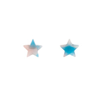 Blue Resin Mini Star Earring