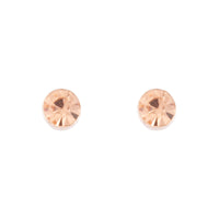 Rose Gold Silk Diamante Stud Earring - link has visual effect only