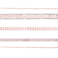 Rose Gold Arrow Disc Choker Pack - link has visual effect only