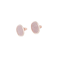Rose Gold Pink Glitter Inlay Disc Earring - link has visual effect only