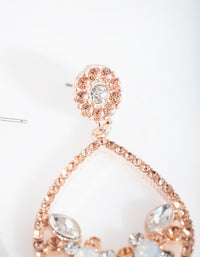 Rose Gold Diamante Flower Cluster Earring - link has visual effect only