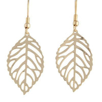 Gold Filigree Leaf Drop Earring