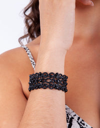 Black Filigree Swirl Stretch Bangle - link has visual effect only