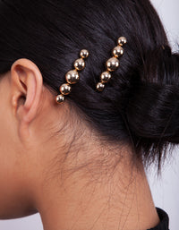 Gold Bead Hair Clip 3 Pack - link has visual effect only