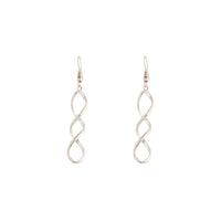 Silver Wave Drop Earring - link has visual effect only