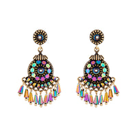 Emerald Mesh Bead Drop Earring - link has visual effect only
