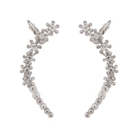 Diamante Double Flower Ear Cuff Pack