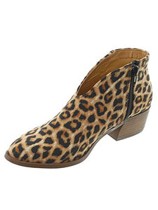 Leopard Pattern Autumn Winter Ankle Boots Chunky Boots-BelleChloe-o1o.store