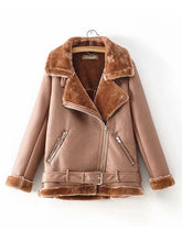 Load image into Gallery viewer, 【Quality】Women's Autumn and Winter Thickening Velvet Faux Fur Jacket-BelleChloe-o1o.store