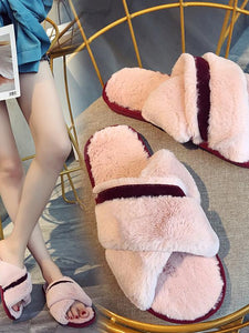 Indoor Home Warm Flat Open Toe Cotton slippers-BelleChloe-o1o.store