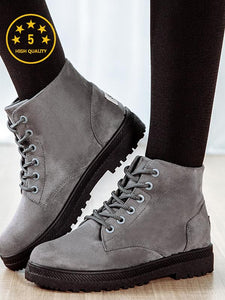 [Quality] Fashion Martin Boots Autumn Winter Suede Ankle Boots-BelleChloe-o1o.store