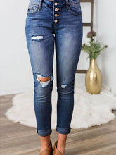 Load image into Gallery viewer, High Waist Two-Tone Classic Jeans-BelleChloe-o1o.store
