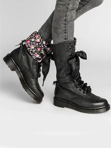 Cool Pu Leather Lace-Up Middle Martin Boots-BelleChloe-o1o.store