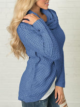 Load image into Gallery viewer, Knitted Buttons Casual Irregular Hem Special Collar Sweater-BelleChloe-o1o.store