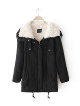 Load image into Gallery viewer, [Quality] Medium Long Thick Lamb Fur Collar Cotton coat-BelleChloe-o1o.store
