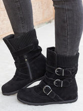 Load image into Gallery viewer, Winter Female Flat Large Size Thick Cotton Boots-BelleChloe-o1o.store