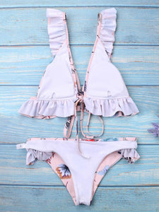 Pink Push-Up Padded Bikini Swimsuit-BelleChloe-o1o.store