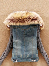 Load image into Gallery viewer, Fashion Lamb Fur Collar Slim Short Jean Coat-BelleChloe-o1o.store