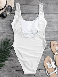 Solid Color Sexy One Piece Swimsuit-BelleChloe-o1o.store