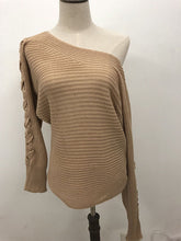 Load image into Gallery viewer, Solid Batwing Sleeve Boat Neck Sweater-o1o.store-o1o.store